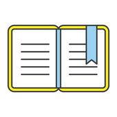 Vector Flat Line Design Concept Open Book Icon — Stock Vector
