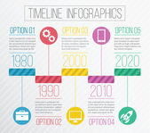 Vector Timeline Infographics — Stock Vector