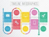 Vector Creative Timeline Infographics — Stock Vector