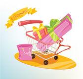 Vector shopping concept illustration — Stock Vector