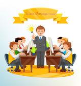 Vector Team Management Illustration — Stock Vector