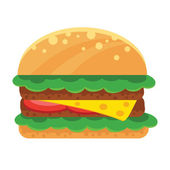 Vector Sandwich Flat Icon — Stock Vector