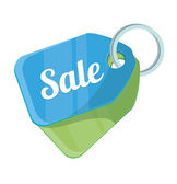 Vector Sale Tag Flat Icon — Stock Vector
