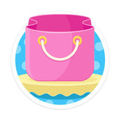 Vector Bag Round Icon — Stock Vector