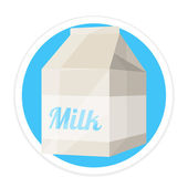 Vector Milk Package Flat Round Icon — Stock Vector