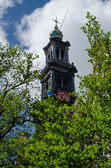 Church Bell Tower, Amsterdam — Stock Photo