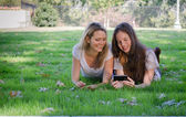 Girls on Grass — Stock Photo