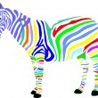 Foto Stock: Zebra, africa, savanna, color, animal,