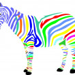 Zebra, africa, savanna, color, animal, - Stock Photo