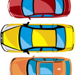 Cars, yellow, red, brown, vehile,collection - Stock Photo