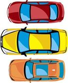 Cars, yellow, red, brown, vehile,collection — Stock Photo