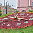 Flower clock in Petersburg — Stock Photo