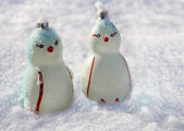 Two Penguins, Christmas decoration — Stock Photo