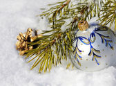Nice Christmas Decoration and pine cone — Стоковое фото