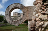 Stone ring for ball games in Uxmal, Yucatan — Stock Photo