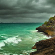 Before the storm on the Caribbean coast in the ancient Mayan city of Tulum, Mexico — Stock Photo #21252327