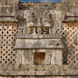 Wall symbol of the god of water chak in Uxmal, Mexico — Stock Photo