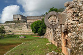 Ring Mayan ball game in the ancient city of Uxmal — Stock Photo