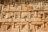 Mexican ornaments and symbols on the pyramids of the Maya of Yuc — Stock Photo