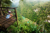 Viewpoint at Cascades National Park in Guatemala Semuc Champey — Stock Photo