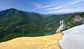 Panoramic views of the beautiful spa Hierve El Agua in Oaxaca, M — Stock Photo