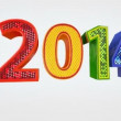 New Year 2014 animated presentation 3d screensaver. Alpha chanel — Stock Video