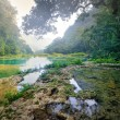 Beatiful Cascades National Park in Guatemala Semuc Champey at su — Stock Photo