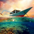 Diving boat at sunset — Stock Photo #37472433