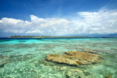The paradise island of Gili Meno. Indonesia — Stock Photo