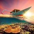 Diving boat at sunset — Stock Photo #40654765