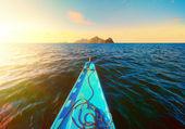 We sail to the uninhabited islands — Stock Photo