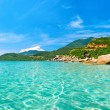 Panoramic view of a tropical beach. — Stock Photo #47424883