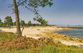 Xastelas beach at Arousa Island — Stock Photo