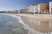 Sanxenxo şehir sahilde silgar — Stok fotoğraf