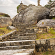 Stairs of Con do Forno viewpoint — Stok fotoğraf