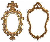 Wooden frame for mirrors — Stock Photo
