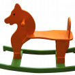 Childrens wooden horse — Stock Photo #12216733