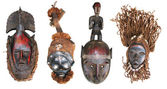 African masks — Stock Photo