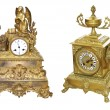 Antique table clocks — Stock Photo
