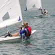 Stock Photo: Sailing on lake