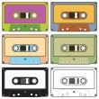 Audio tapes — Stock Vector