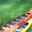 Three plastic canoe — Stock Photo #15417631