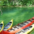 Empty canoes — Stock Photo #15417669