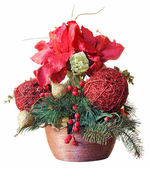 Christmas arrangements — Stock Photo