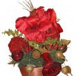 Beautiful christmas arrangements — Stock Photo