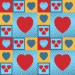 Hearts pattern — Stockvektor