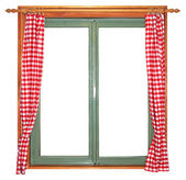 Green window — Stock Photo