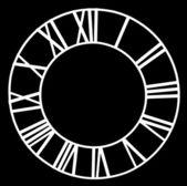 Clock dial — Stock Photo