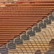 Stock Photo: Piano strings