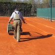 Stock Photo: Rolling tennis court
